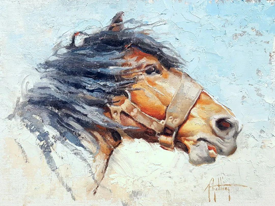 90后美女画家,画马水平堪称一绝,阿比盖尔·古廷作品(上)插图20