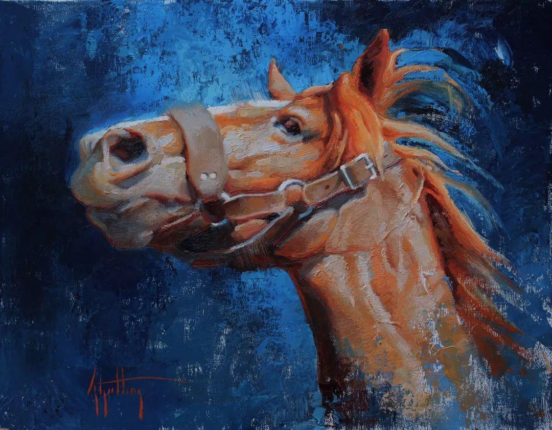 90后美女画家,画马水平堪称一绝,阿比盖尔·古廷作品(上)插图22