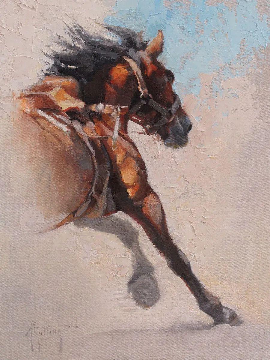 90后美女画家,画马水平堪称一绝,阿比盖尔·古廷作品(上)插图23