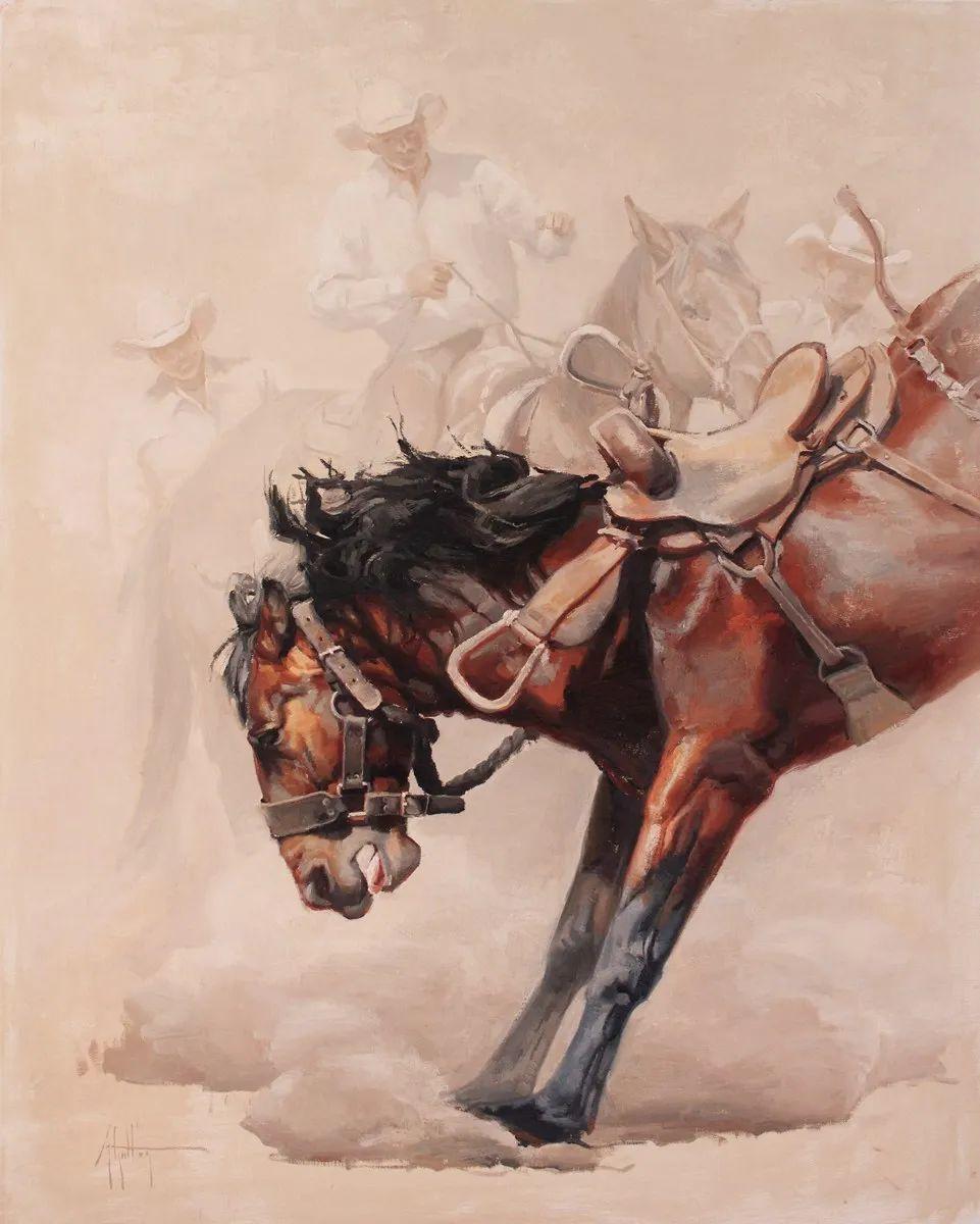 90后美女画家,画马水平堪称一绝,阿比盖尔·古廷作品(上)插图26