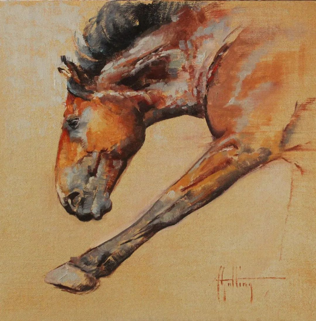 90后美女画家,画马水平堪称一绝,阿比盖尔·古廷作品(上)插图28