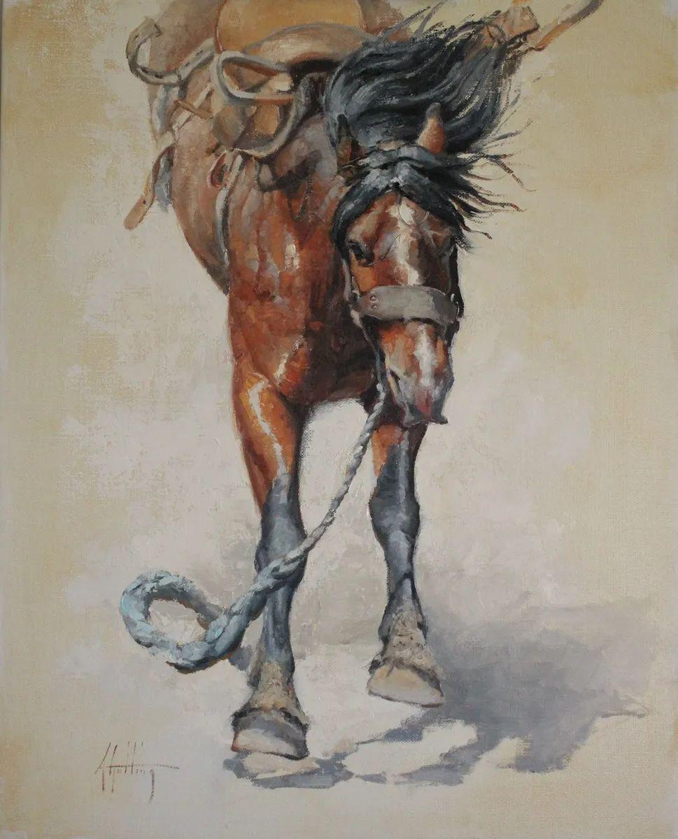 90后美女画家,画马水平堪称一绝,阿比盖尔·古廷作品(上)插图30