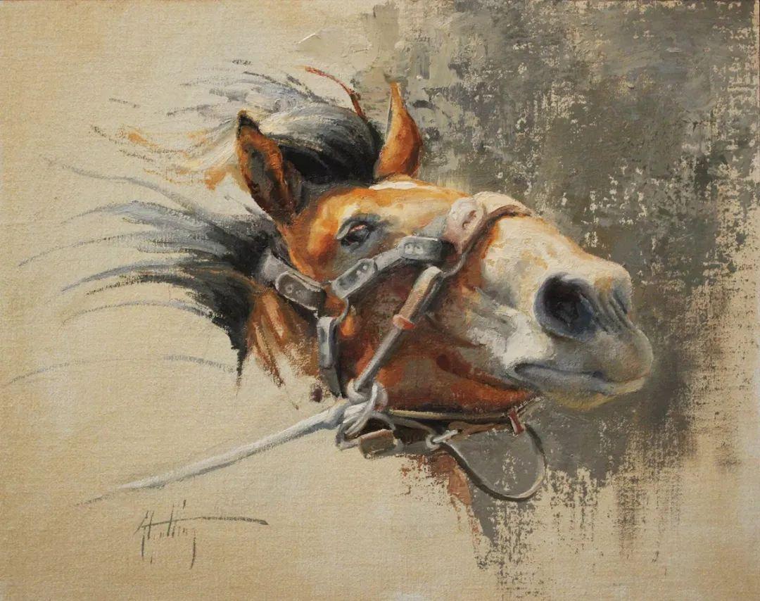 90后美女画家,画马水平堪称一绝,阿比盖尔·古廷作品(上)插图31