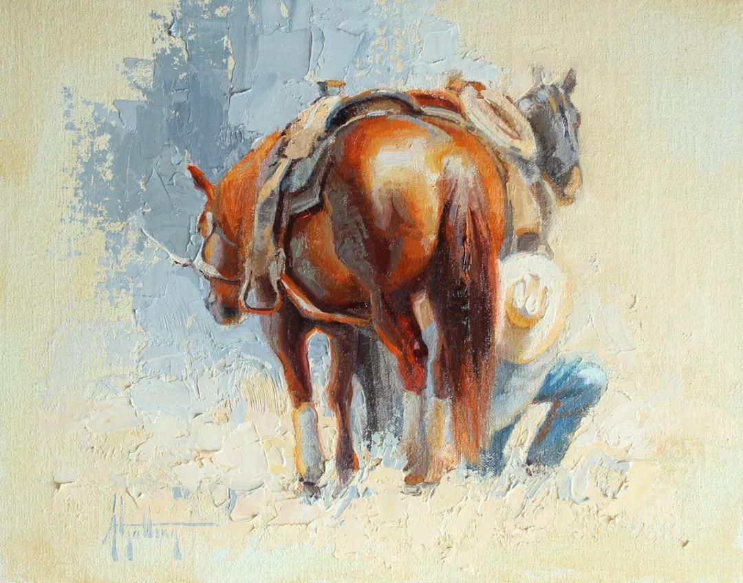 90后美女画家,画马水平堪称一绝,阿比盖尔·古廷作品(上)插图33