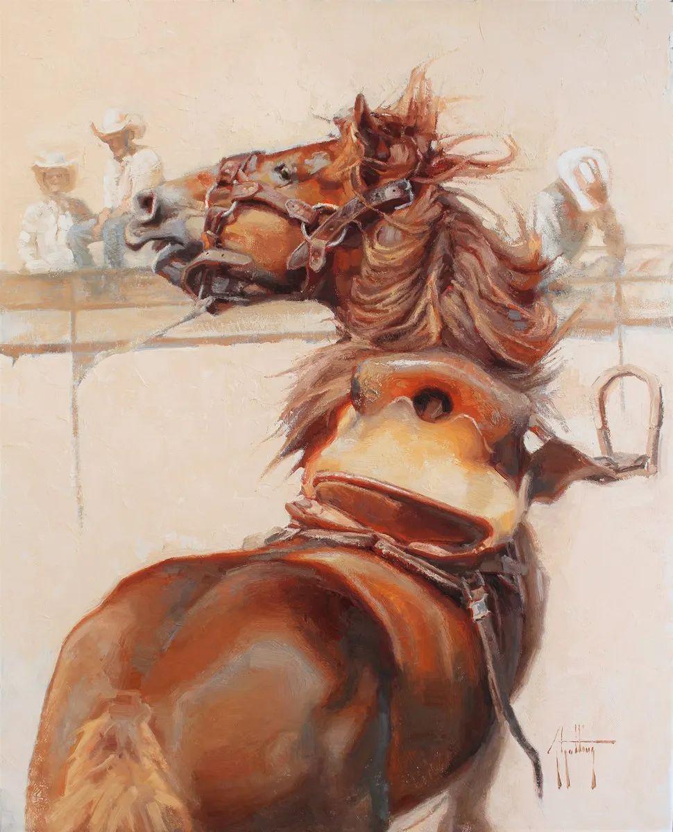 90后美女画家,画马水平堪称一绝,阿比盖尔·古廷作品(上)插图34