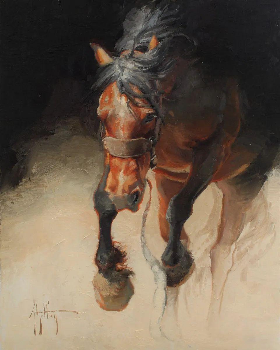 90后美女画家,画马水平堪称一绝,阿比盖尔·古廷作品(上)插图35