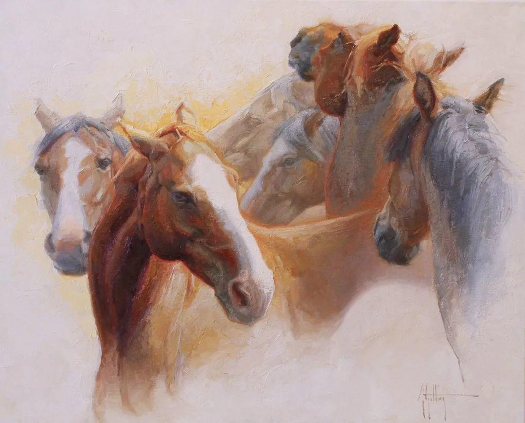 90后美女画家,画马水平堪称一绝,阿比盖尔·古廷作品(上)插图36