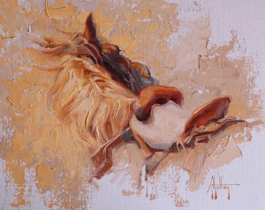 90后美女画家,画马水平堪称一绝,阿比盖尔·古廷作品(上)插图37
