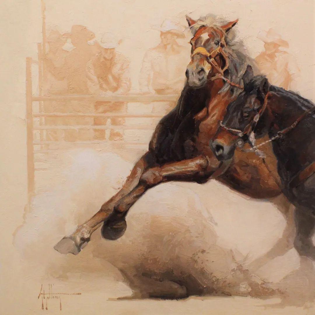90后美女画家,画马水平堪称一绝,阿比盖尔·古廷作品(上)插图38