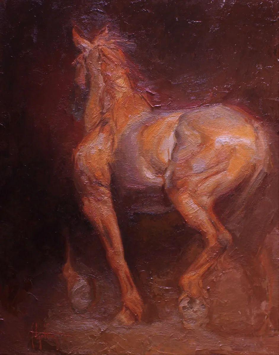 90后美女画家,画马水平堪称一绝,阿比盖尔·古廷作品(上)插图39