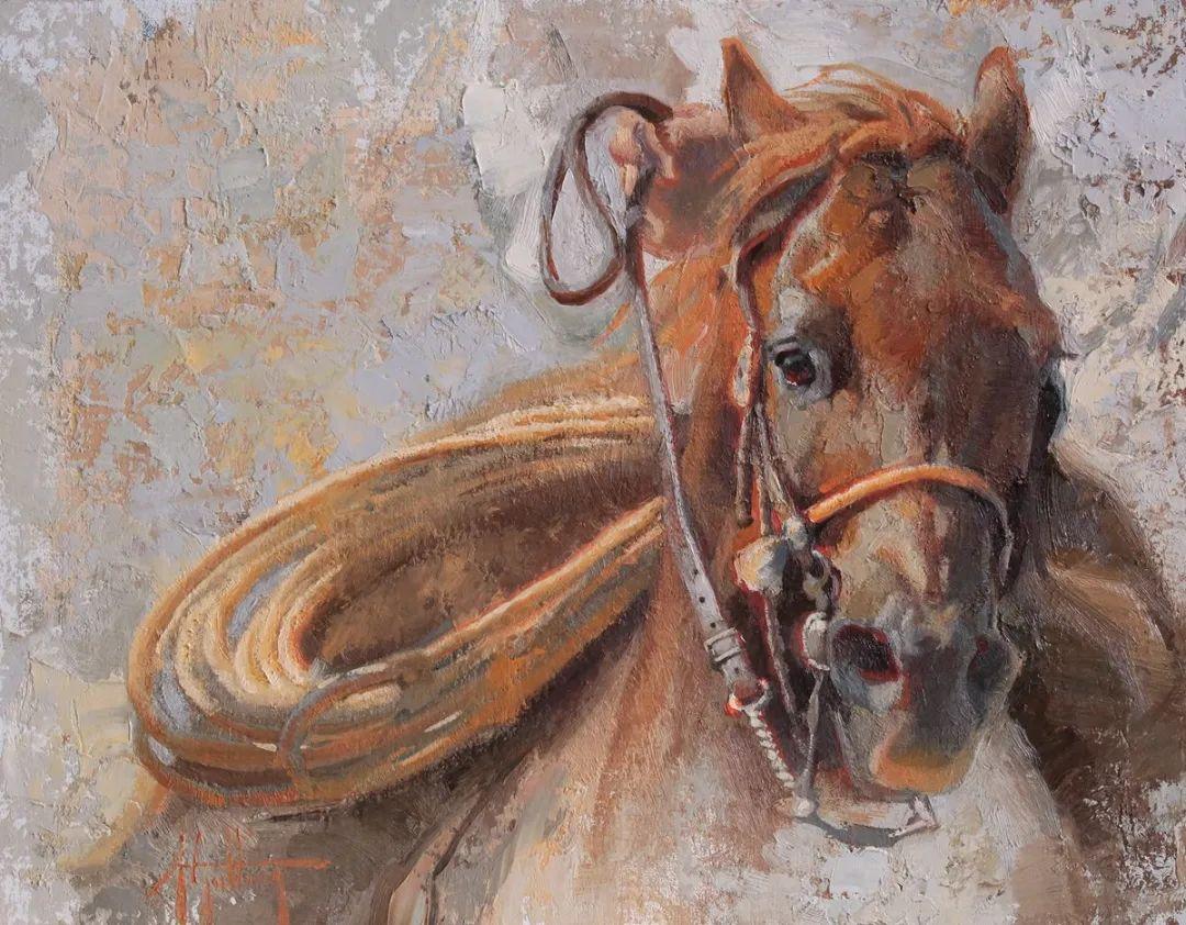 90后美女画家,画马水平堪称一绝,阿比盖尔·古廷作品(上)插图41