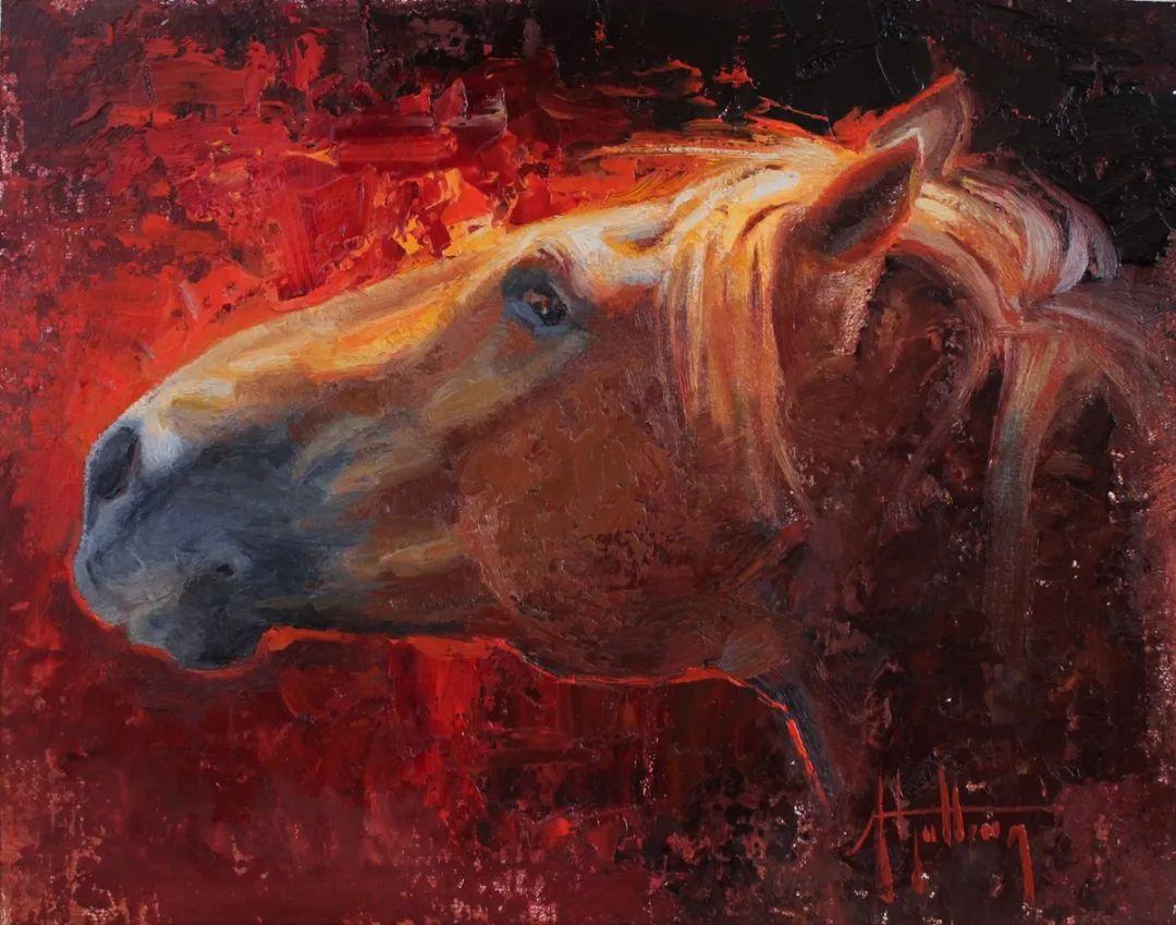 90后美女画家,画马水平堪称一绝,阿比盖尔·古廷作品(上)插图42