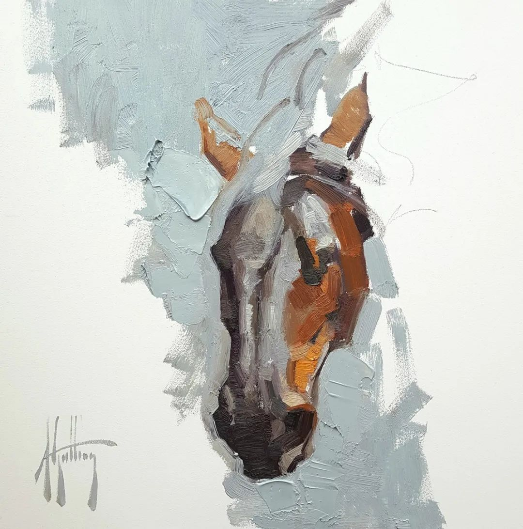 90后美女画家,画马水平堪称一绝,阿比盖尔·古廷作品(上)插图47
