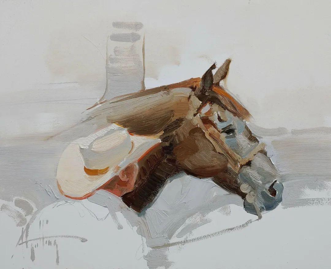 90后美女画家,画马水平堪称一绝,阿比盖尔·古廷作品(上)插图50