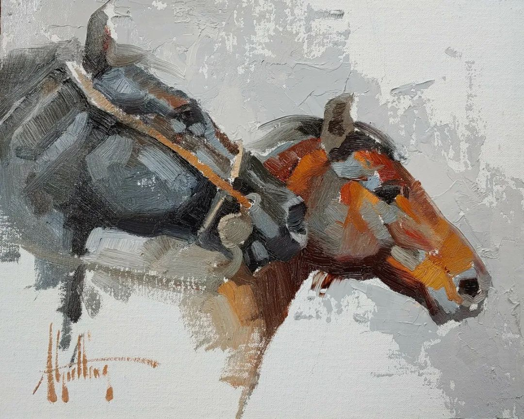 90后美女画家,画马水平堪称一绝,阿比盖尔·古廷作品(上)插图51