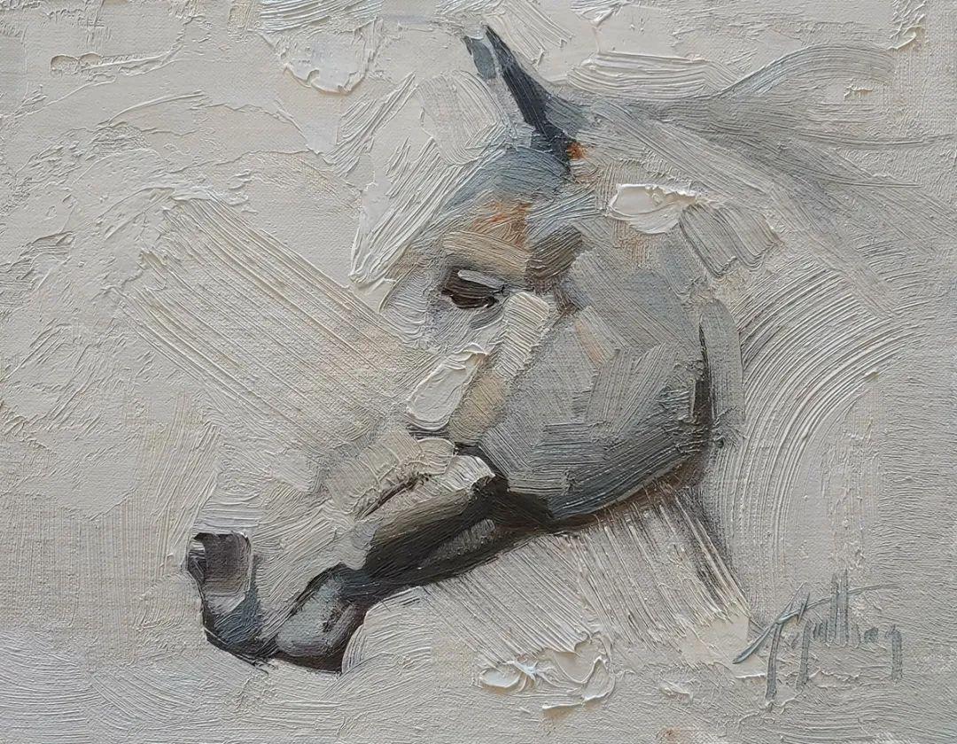 90后美女画家,画马水平堪称一绝,阿比盖尔·古廷作品(上)插图52