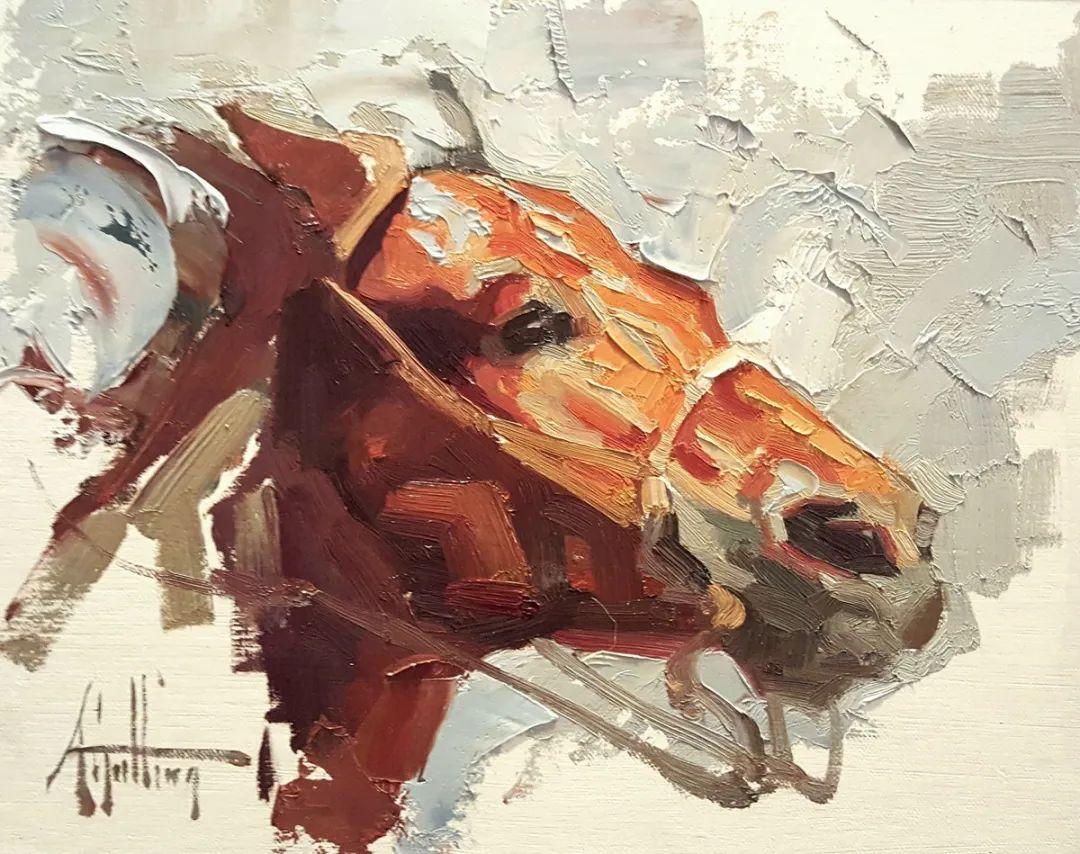 90后美女画家,画马水平堪称一绝,阿比盖尔·古廷作品(上)插图53