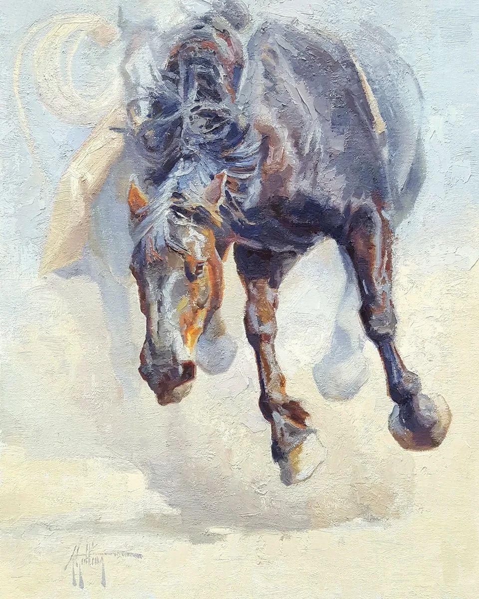 90后美女画家,画马水平堪称一绝,阿比盖尔·古廷作品(上)插图54