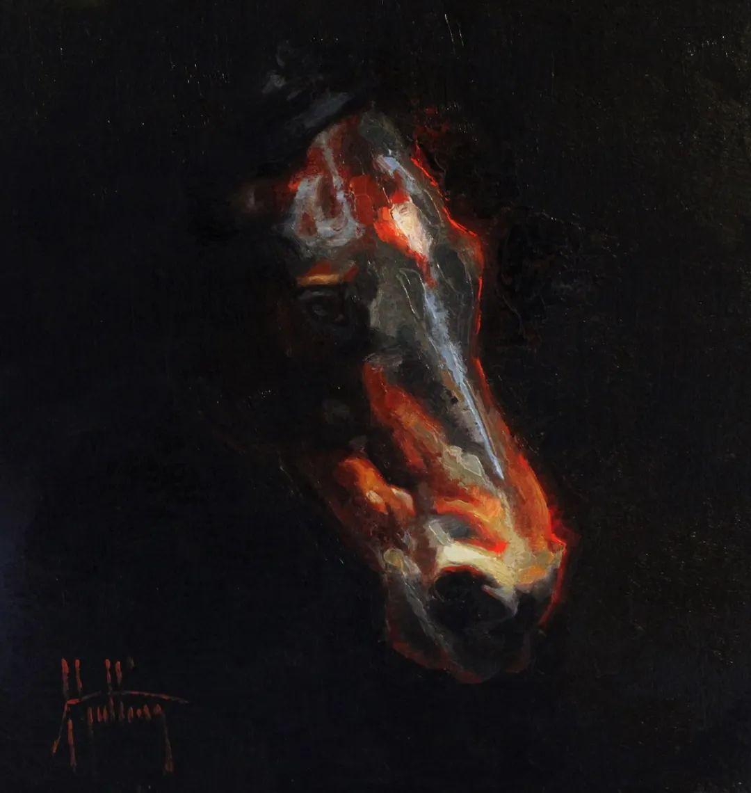 90后美女画家,画马水平堪称一绝,阿比盖尔·古廷作品(上)插图55