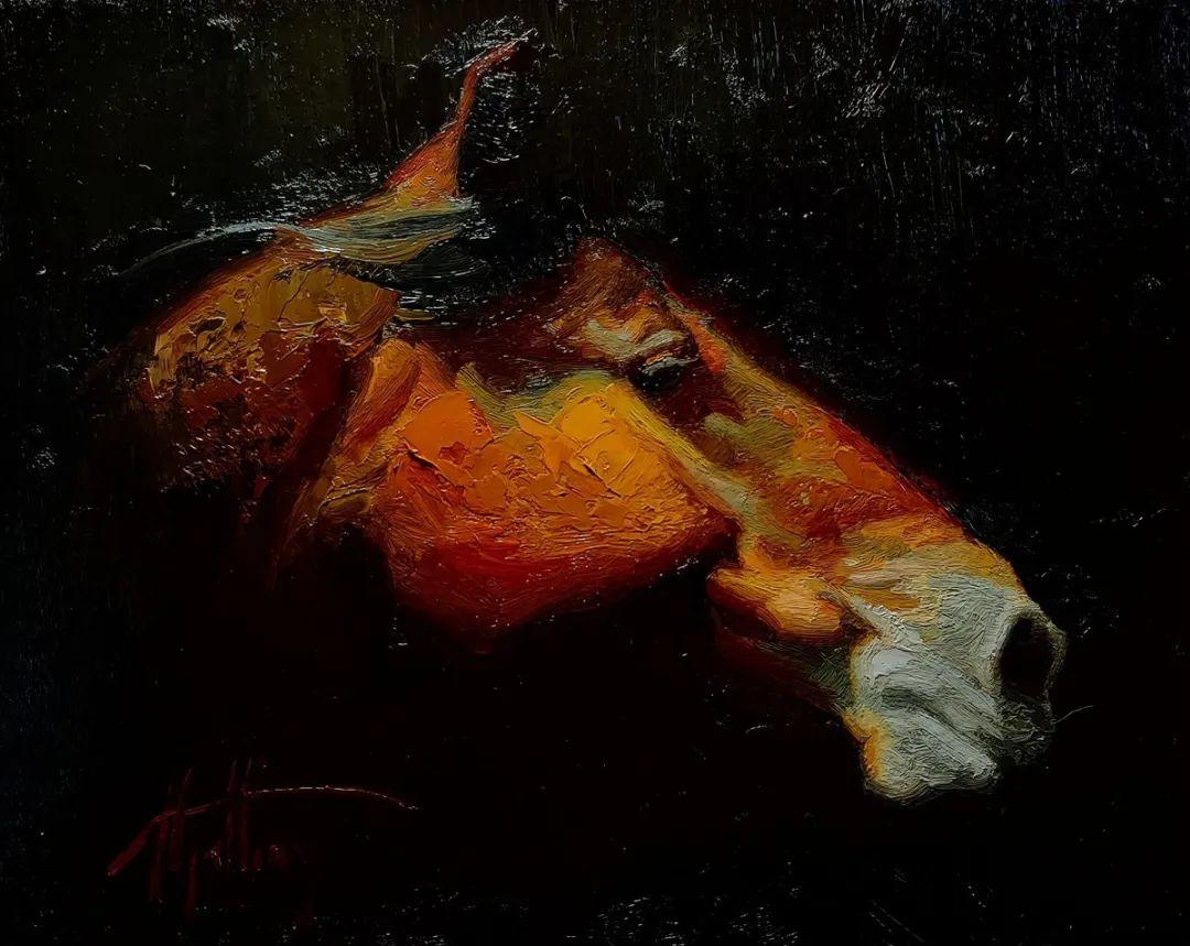 90后美女画家,画马水平堪称一绝,阿比盖尔·古廷作品(上)插图56