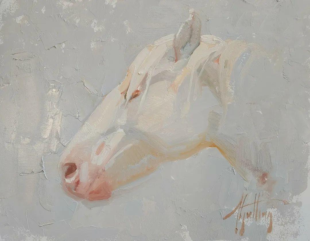 90后美女画家,画马水平堪称一绝,阿比盖尔·古廷作品(上)插图57