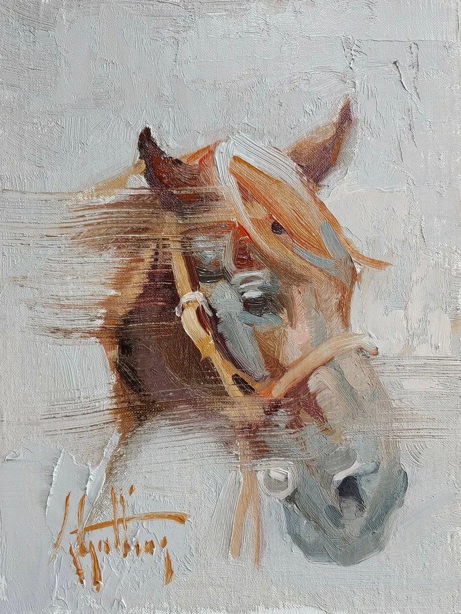 90后美女画家,画马水平堪称一绝,阿比盖尔·古廷作品(上)插图58