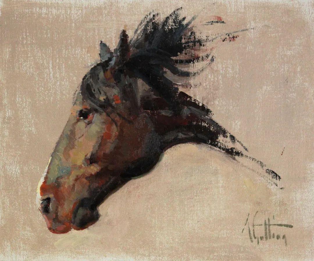90后美女画家,画马水平堪称一绝,阿比盖尔·古廷作品(上)插图59