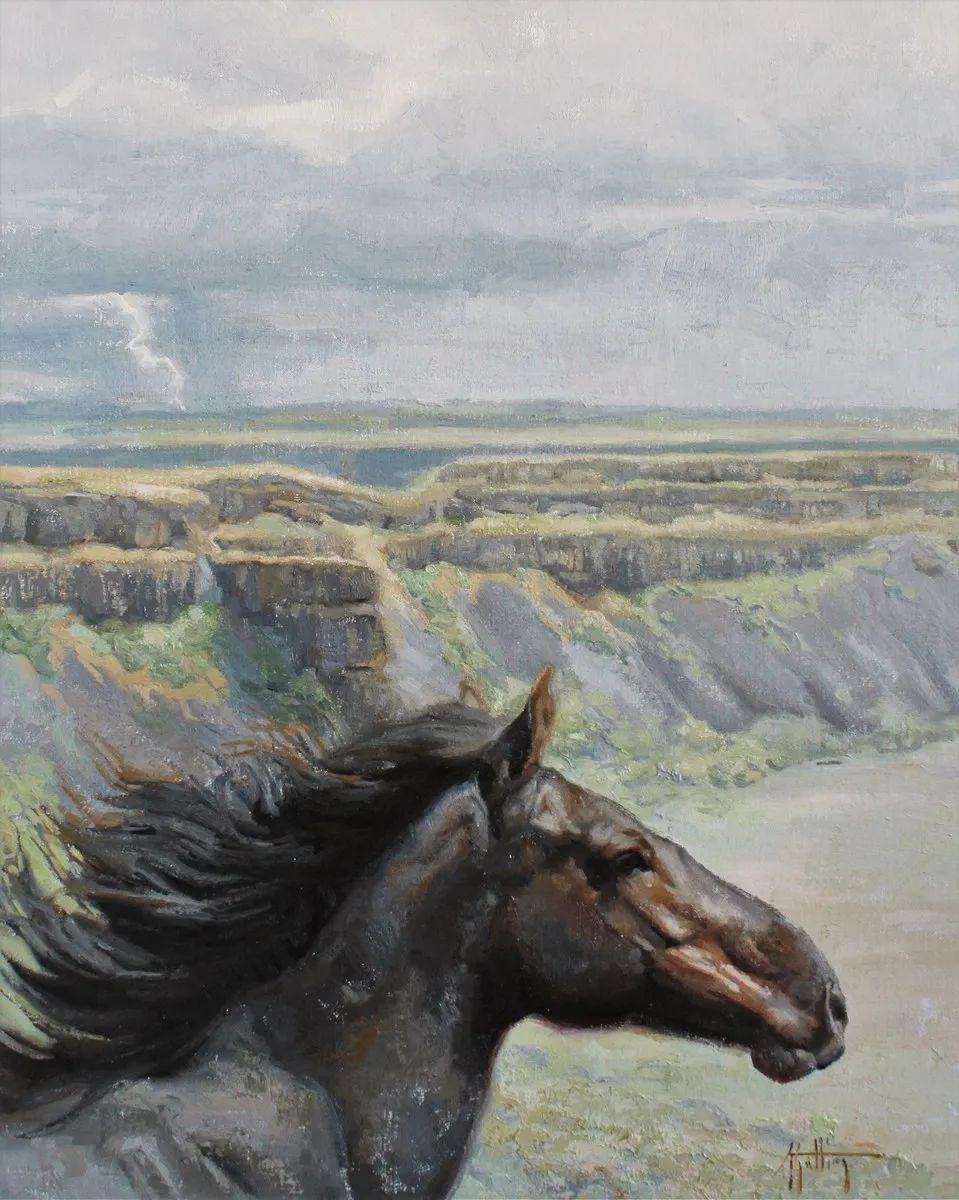 90后美女画家,画马水平堪称一绝,阿比盖尔·古廷作品(上)插图62