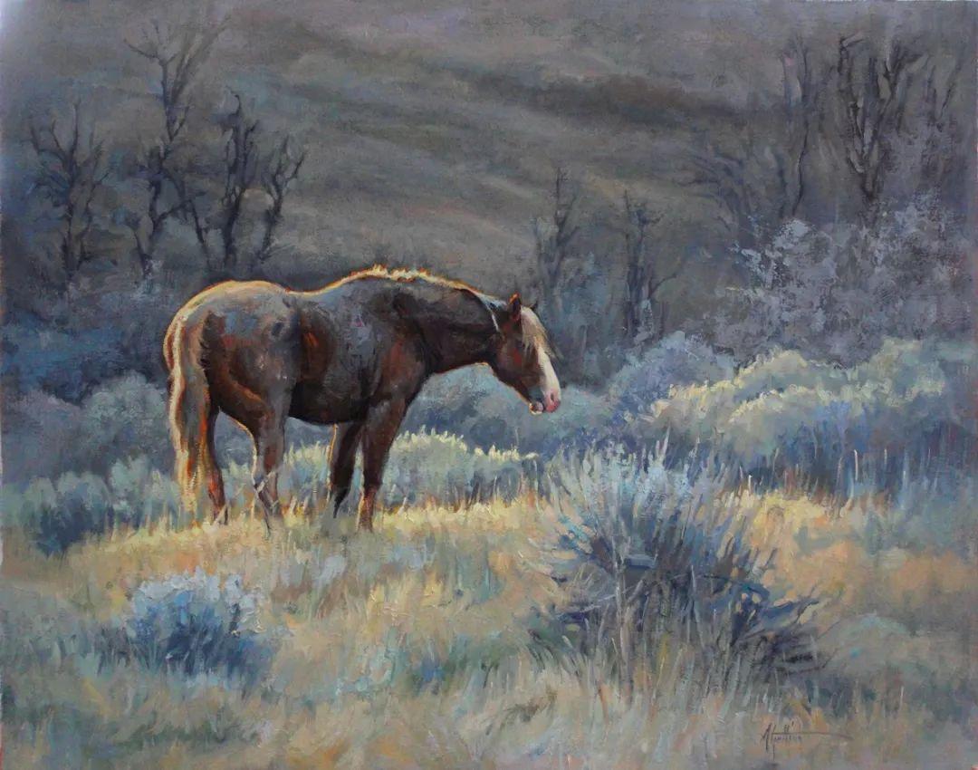 90后美女画家,画马水平堪称一绝,阿比盖尔·古廷作品(上)插图64