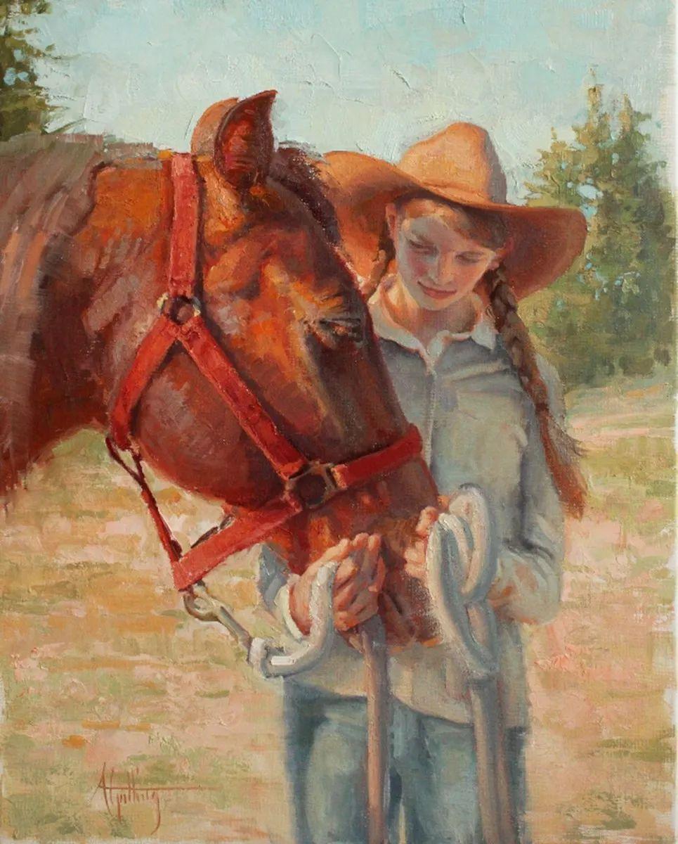 90后美女画家,画马水平堪称一绝,阿比盖尔·古廷作品(上)插图65