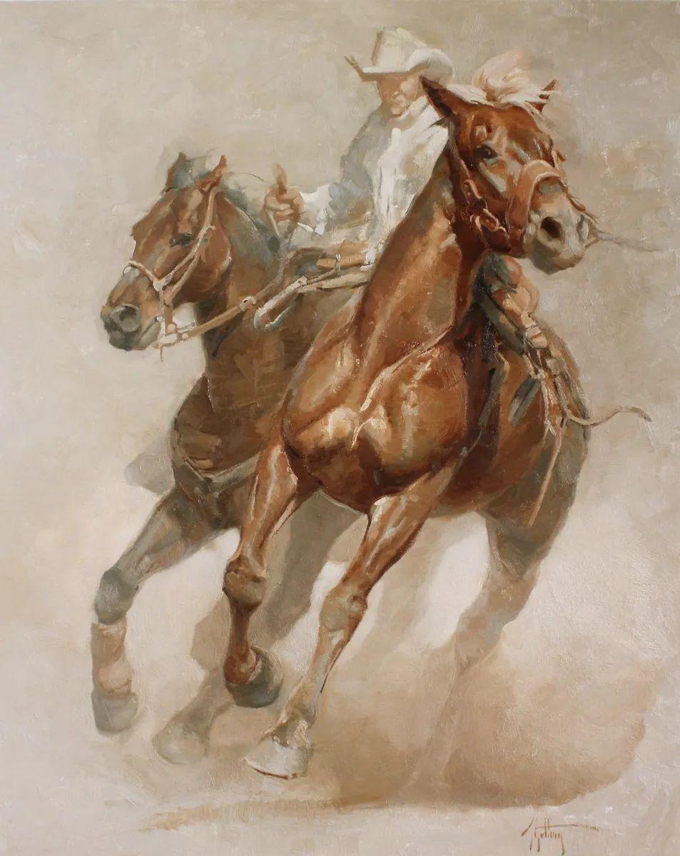 90后美女画家,画马水平堪称一绝,阿比盖尔·古廷作品(上)插图69