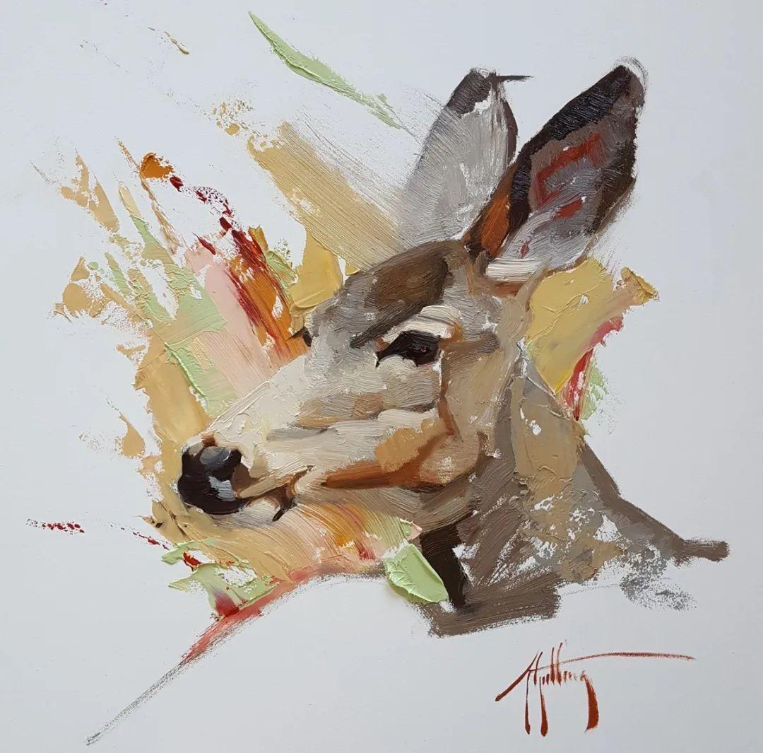 羚羊与耗牛,美国女画家阿比盖尔·古廷作品(下)插图7