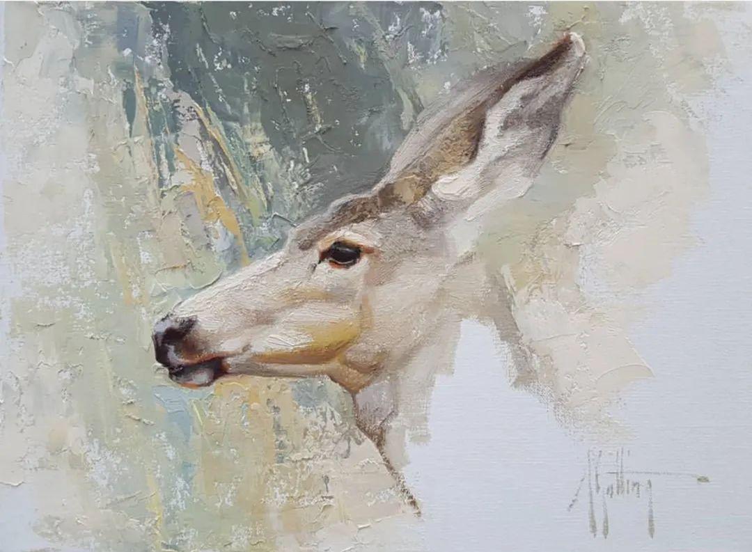 羚羊与耗牛,美国女画家阿比盖尔·古廷作品(下)插图9