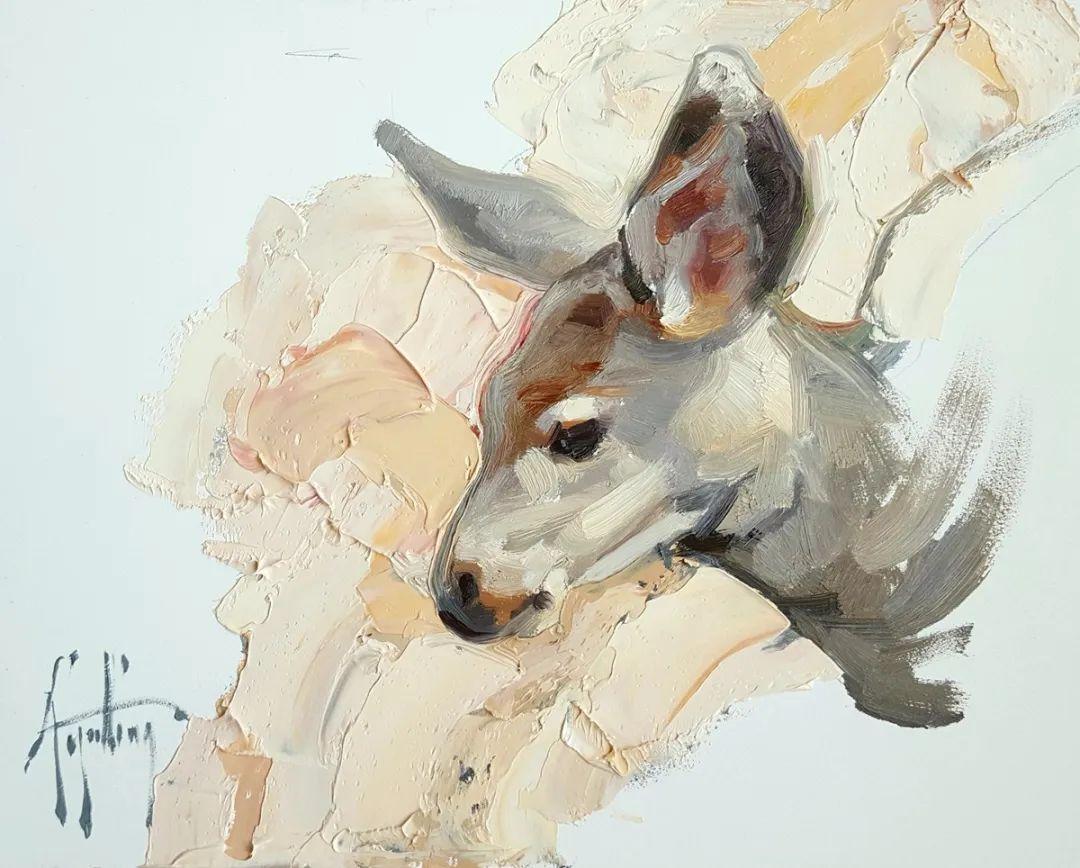羚羊与耗牛,美国女画家阿比盖尔·古廷作品(下)插图11
