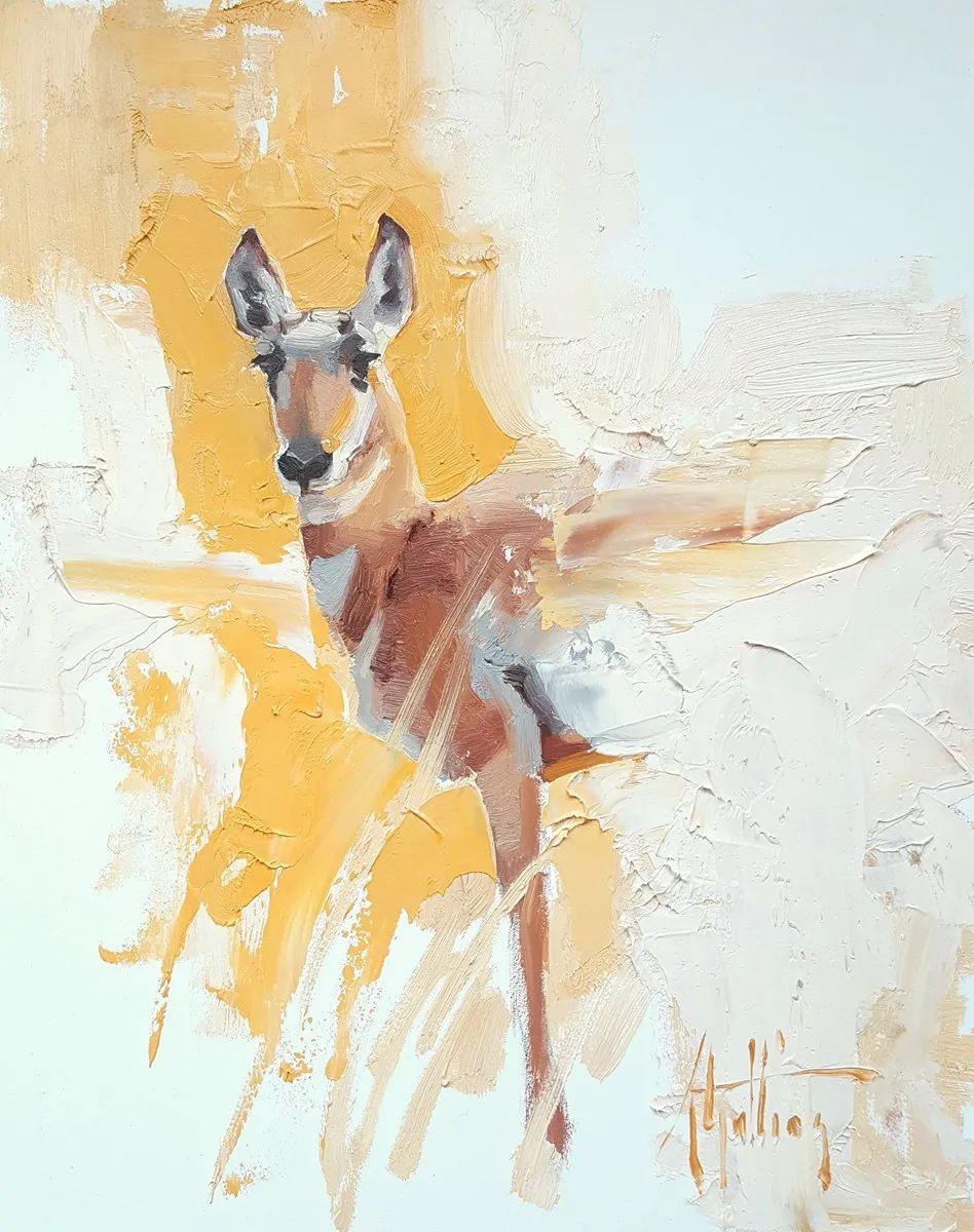 羚羊与耗牛,美国女画家阿比盖尔·古廷作品(下)插图13