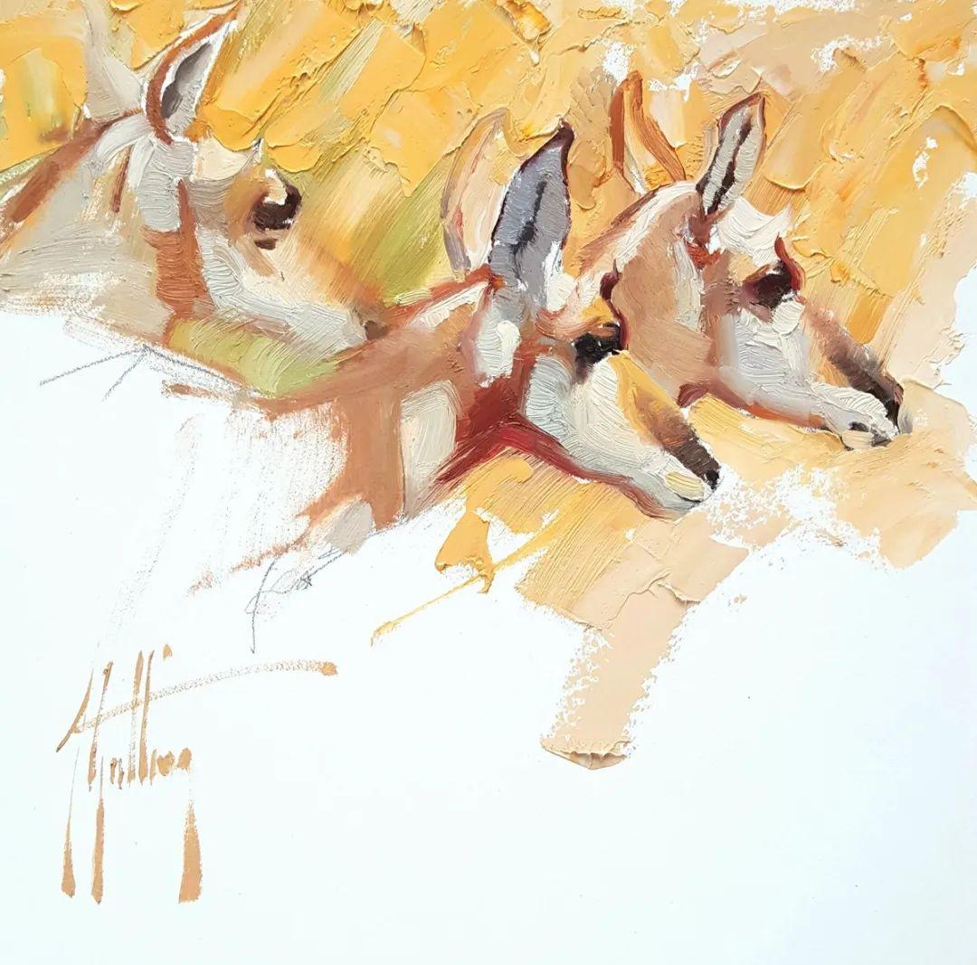 羚羊与耗牛,美国女画家阿比盖尔·古廷作品(下)插图15