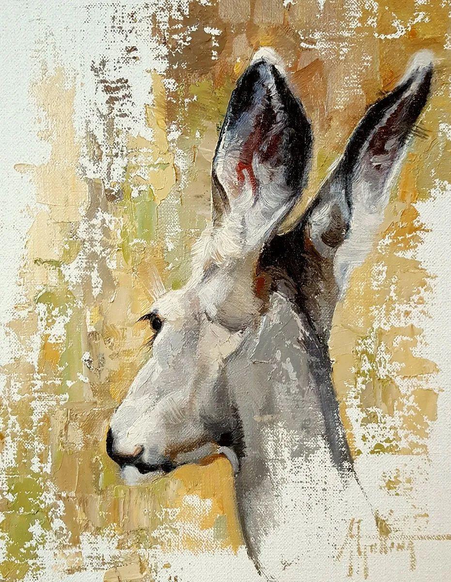 羚羊与耗牛,美国女画家阿比盖尔·古廷作品(下)插图17