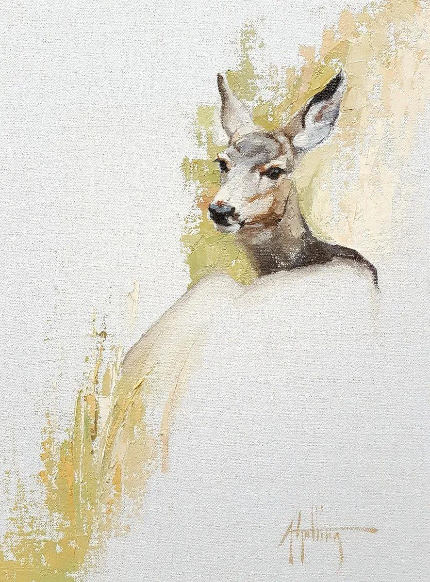 羚羊与耗牛,美国女画家阿比盖尔·古廷作品(下)插图19