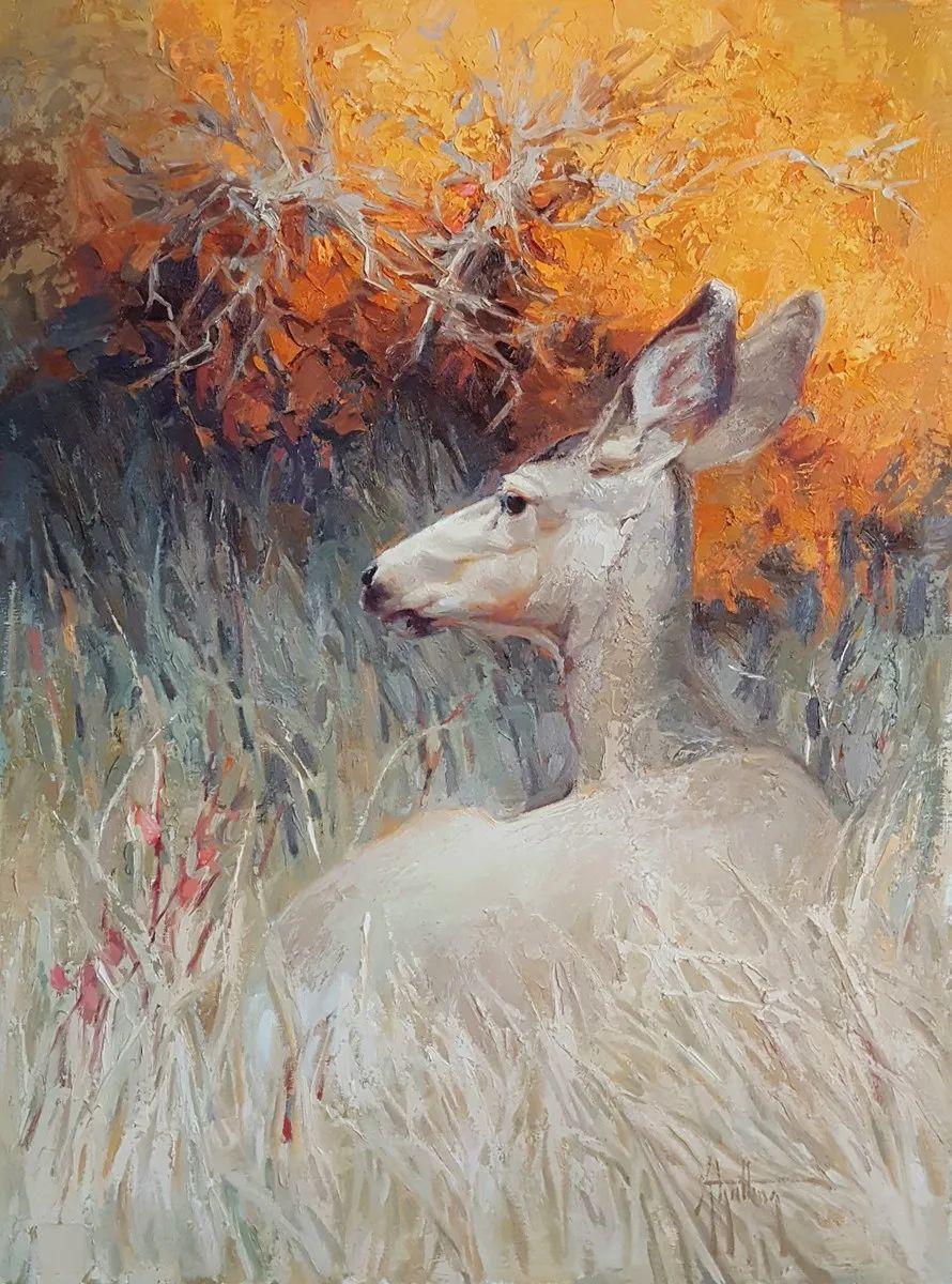 羚羊与耗牛,美国女画家阿比盖尔·古廷作品(下)插图25