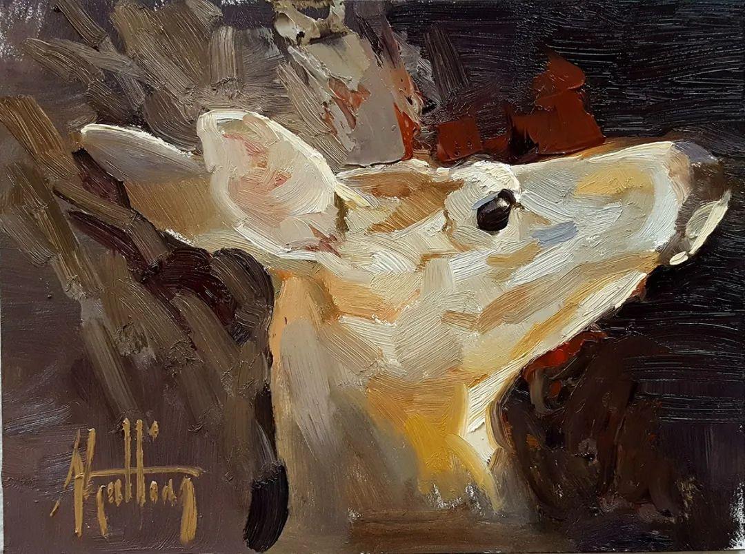 羚羊与耗牛,美国女画家阿比盖尔·古廷作品(下)插图29
