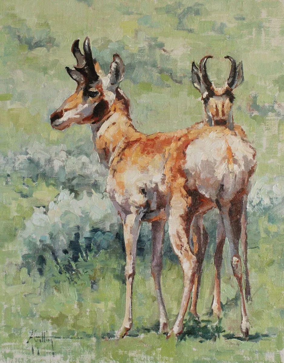羚羊与耗牛,美国女画家阿比盖尔·古廷作品(下)插图33