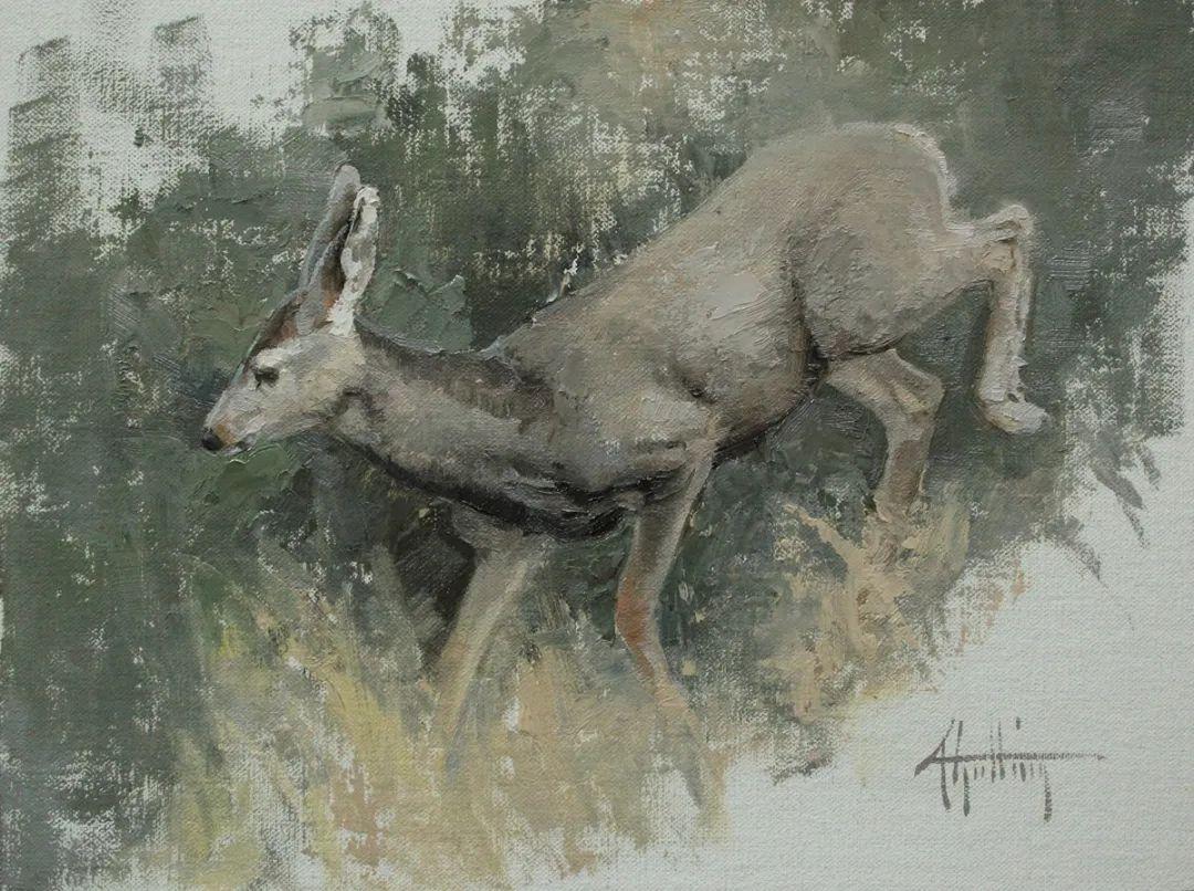羚羊与耗牛,美国女画家阿比盖尔·古廷作品(下)插图35