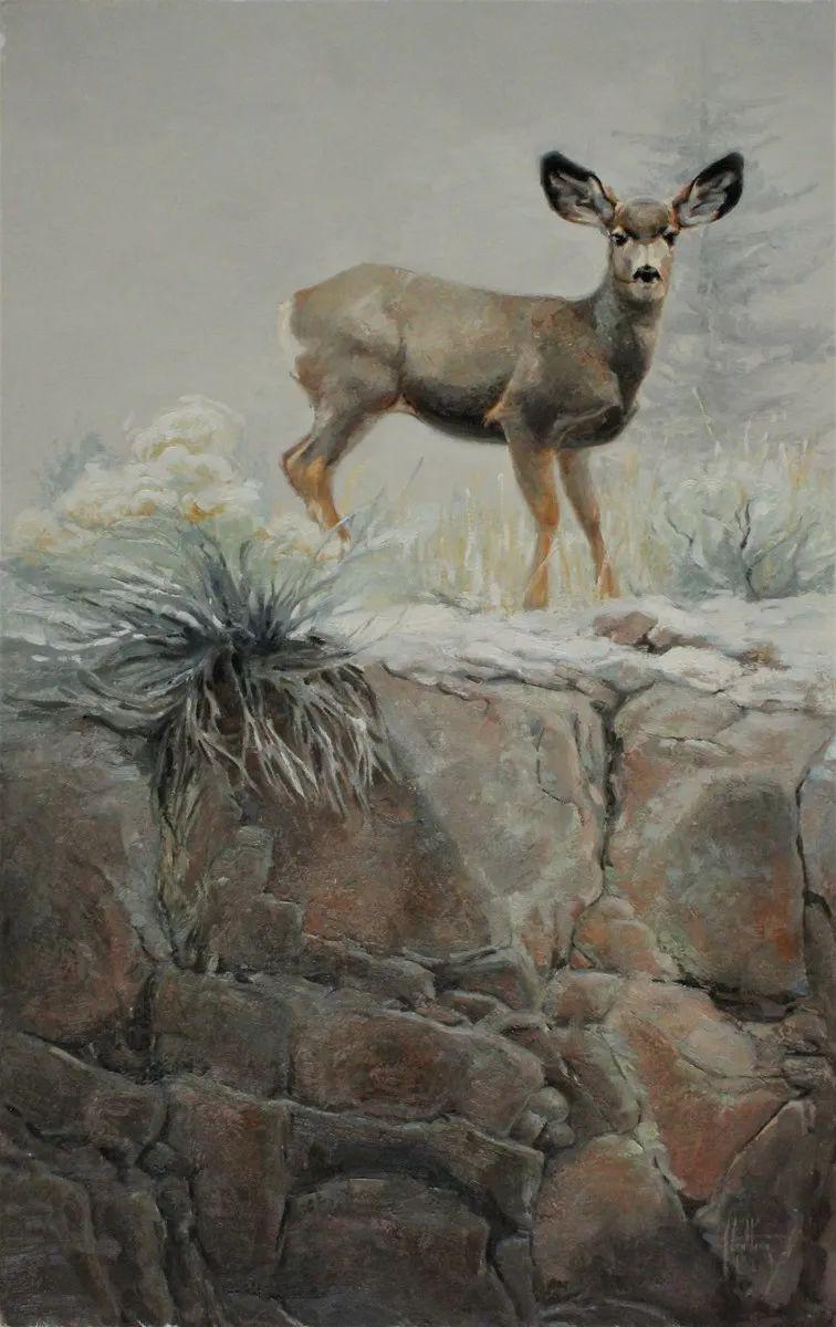 羚羊与耗牛,美国女画家阿比盖尔·古廷作品(下)插图41