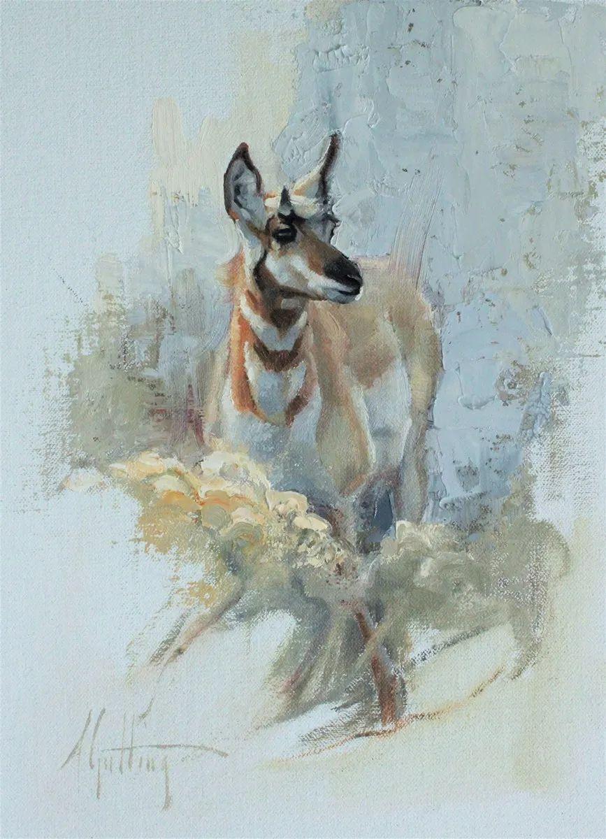 羚羊与耗牛,美国女画家阿比盖尔·古廷作品(下)插图43