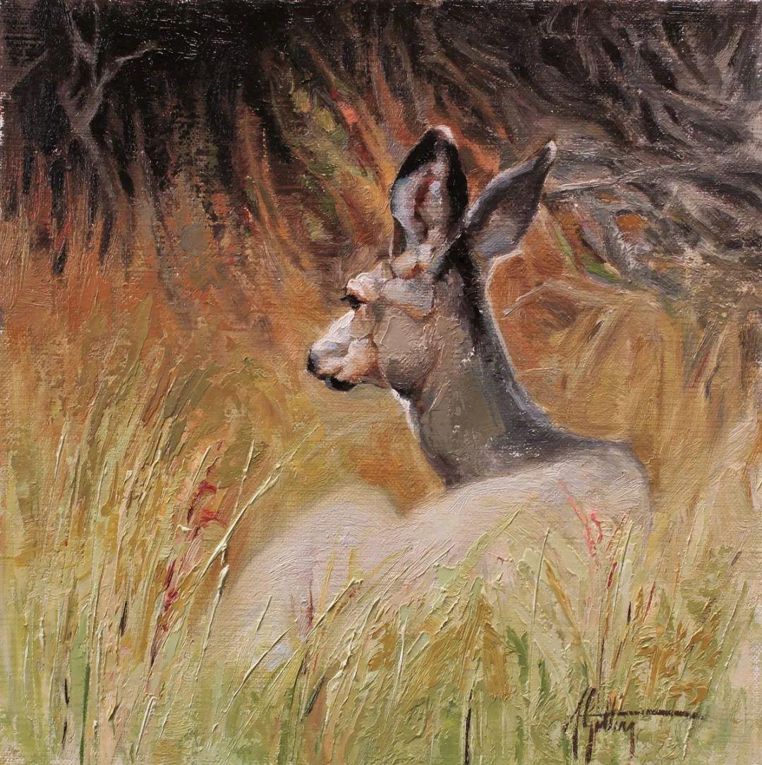 羚羊与耗牛,美国女画家阿比盖尔·古廷作品(下)插图45