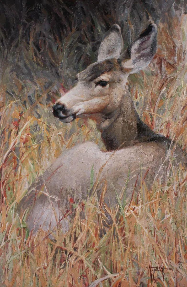羚羊与耗牛,美国女画家阿比盖尔·古廷作品(下)插图51