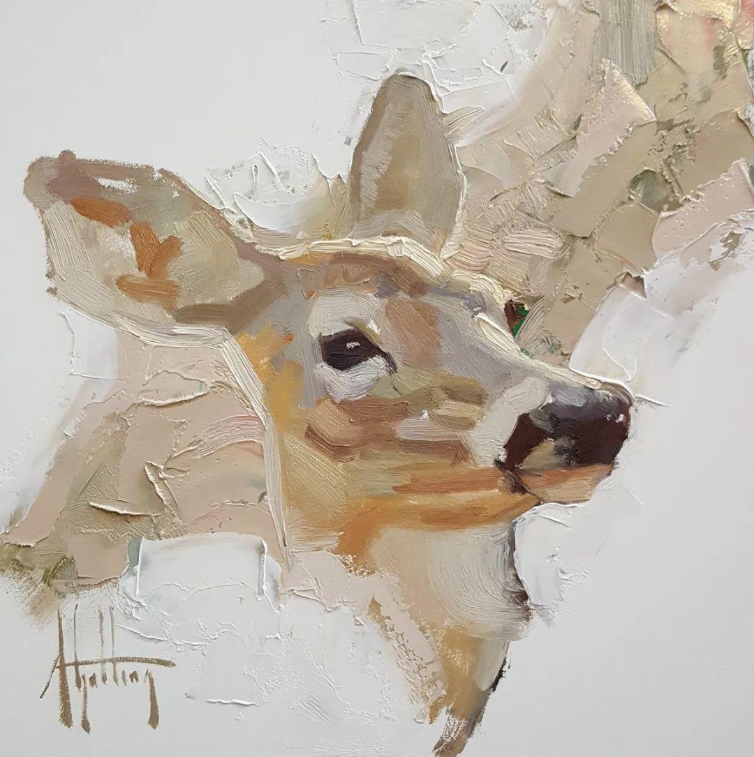 羚羊与耗牛,美国女画家阿比盖尔·古廷作品(下)插图53