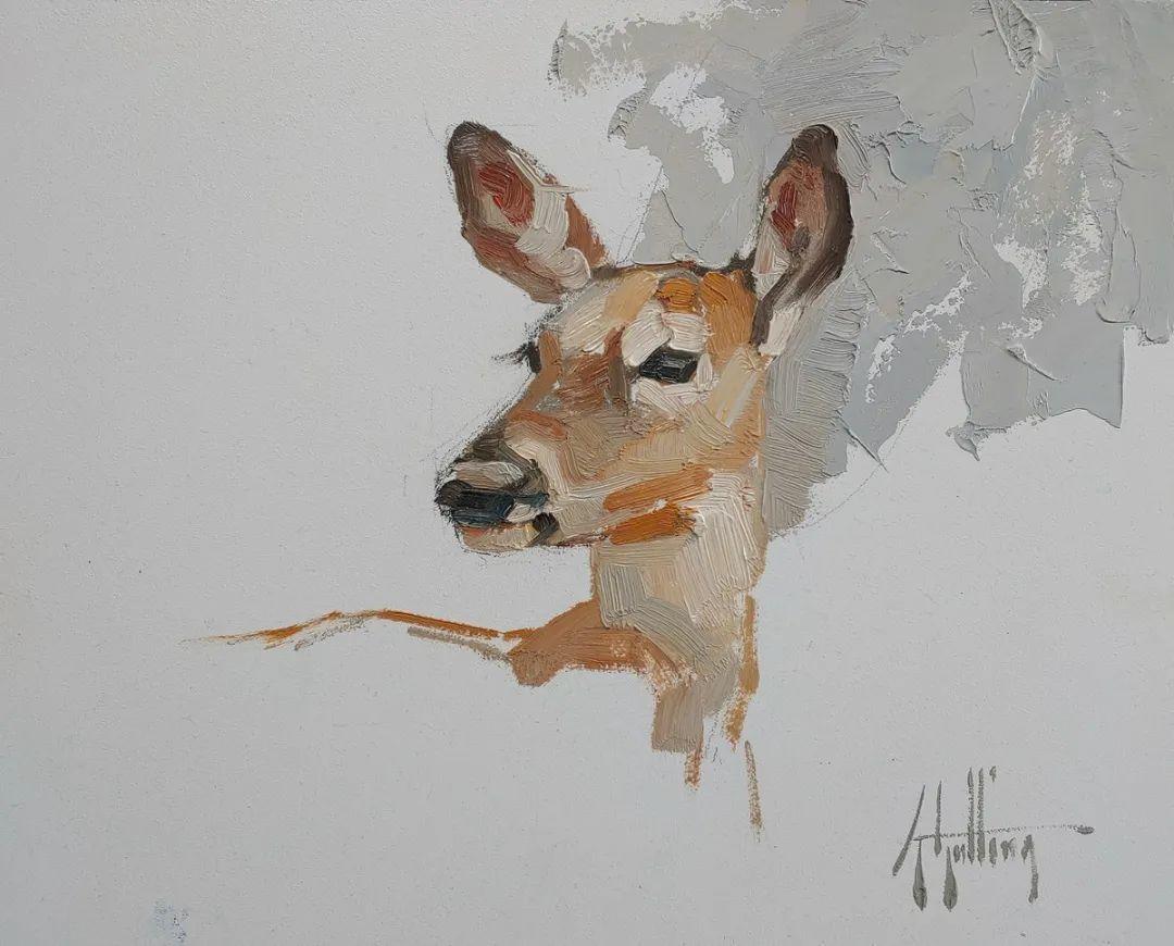 羚羊与耗牛,美国女画家阿比盖尔·古廷作品(下)插图57