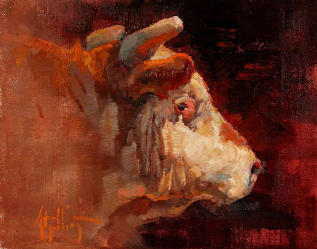 羚羊与耗牛,美国女画家阿比盖尔·古廷作品(下)插图63