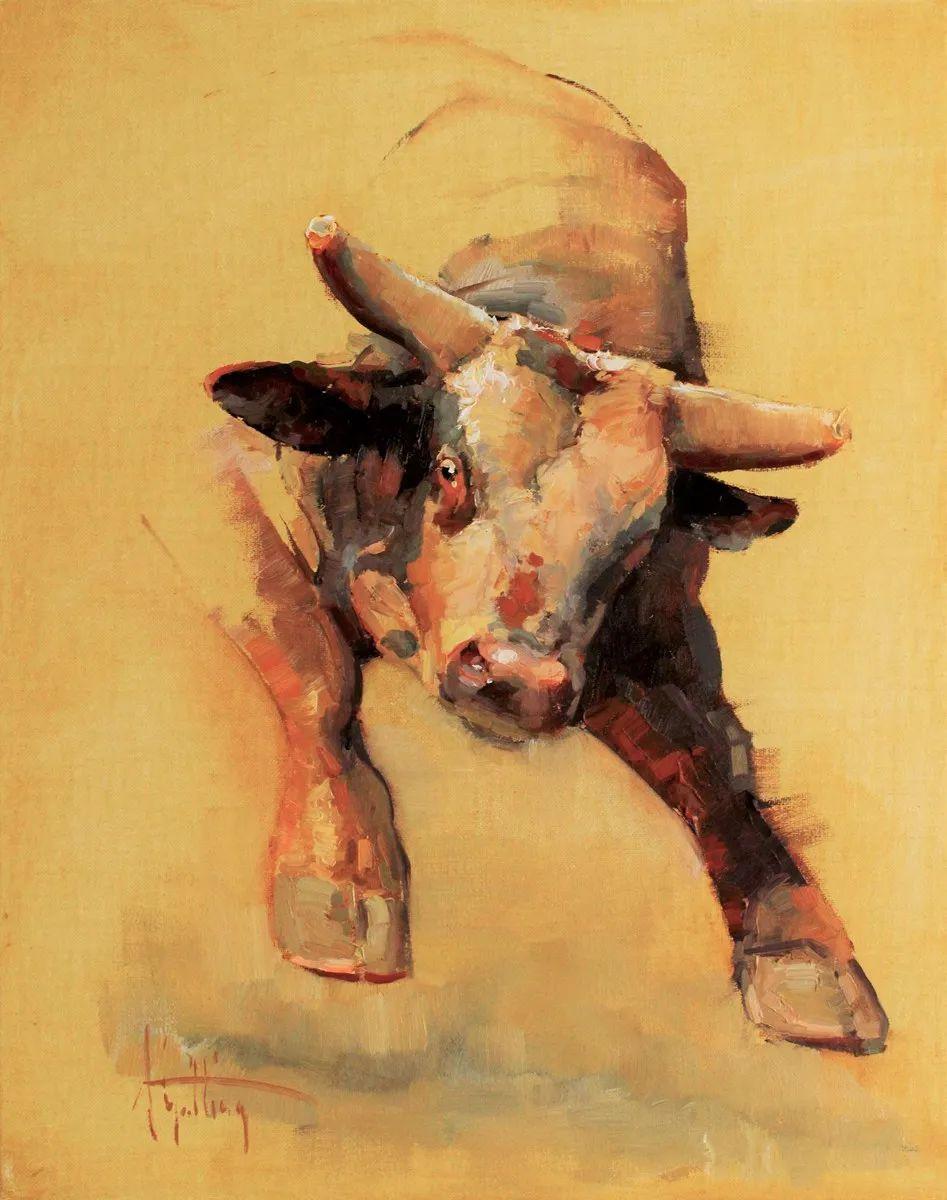 羚羊与耗牛,美国女画家阿比盖尔·古廷作品(下)插图65